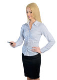 Business woman call phone Royalty Free Stock Photography