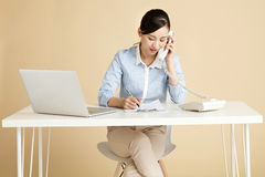 Business woman call Stock Photo