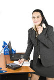 Business woman calling stock photo