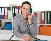 Business woman is calling Royalty Free Stock Photography