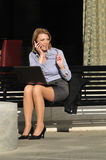 Business woman calling on the phone Royalty Free Stock Photos