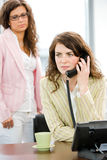 Business woman calling on phone Royalty Free Stock Photo