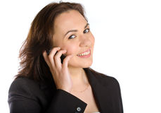 Business woman calling by phone Royalty Free Stock Photography