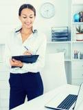 Business woman cardboard Stock Image