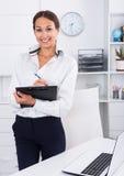 Business woman cardboard Royalty Free Stock Photos