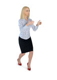 Business woman carry something Stock Images