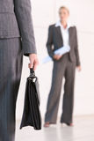 Business woman carrying briefcase stock photos