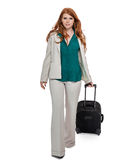 Business woman carrying luggage Stock Image