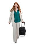 Business woman carrying luggage Royalty Free Stock Photography