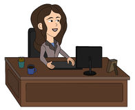 Business woman cartoon Stock Photo