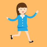Business woman cartoon character. Stock Photo