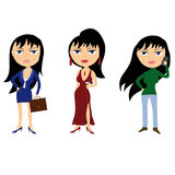 Business woman cartoon personage Stock Photography