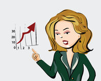 Business Woman Cartoon Style Royalty Free Stock Image