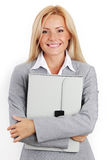 Business woman with case Royalty Free Stock Image