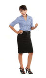 Business woman celebrate success Royalty Free Stock Photos