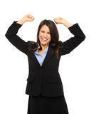 Business woman celebrates Stock Images