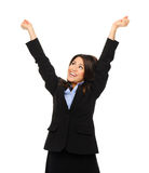 Business woman celebrates Royalty Free Stock Image