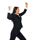 Business woman celebrating her succes Royalty Free Stock Photos