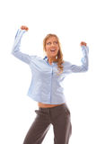 Business woman celebrating success Royalty Free Stock Image