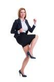 Business woman celebrating success Stock Photos