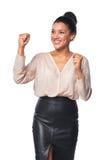 Business woman celebrating success Royalty Free Stock Photos