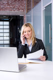 Business Woman on cell Stock Images