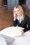 Business Woman on cell Stock Photos
