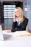 Business Woman on cell Stock Photography