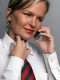 Business woman with cell phone Royalty Free Stock Photos