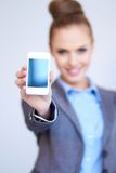 Business woman with cell phone Stock Photos