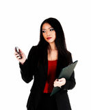 Business woman with cell phone. Stock Image