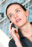 Business woman on a cell phone Stock Photo