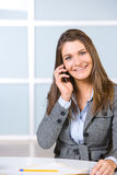 Business woman on a cell phone Royalty Free Stock Photos