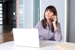 Business Woman on a cell phone Royalty Free Stock Image