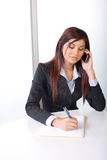 Business woman on a cell phone Royalty Free Stock Photo