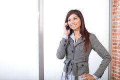 Business woman on a cell phone Stock Photos