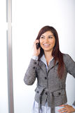 Business woman on a cell phone Stock Images