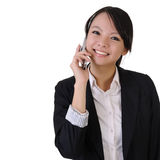 Business woman with cellphone Stock Images