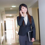Business woman with cellphone Stock Photo