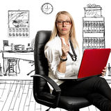 Business Woman In Chair Stock Photo