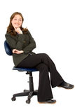 Business woman on a chair Royalty Free Stock Photography