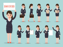 Business woman character set Royalty Free Stock Photos