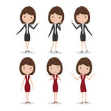 Business Woman Character Royalty Free Stock Images