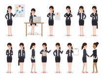 Business woman characters Royalty Free Stock Image