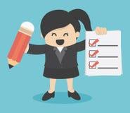 Business woman Checklist Stock Photos