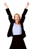 Business woman cheerful Stock Images