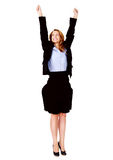 Business woman cheerful Royalty Free Stock Photography