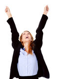 Business woman cheerful Royalty Free Stock Images