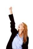 Business woman cheerful Stock Photo