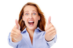 Business woman cheerful Stock Photography